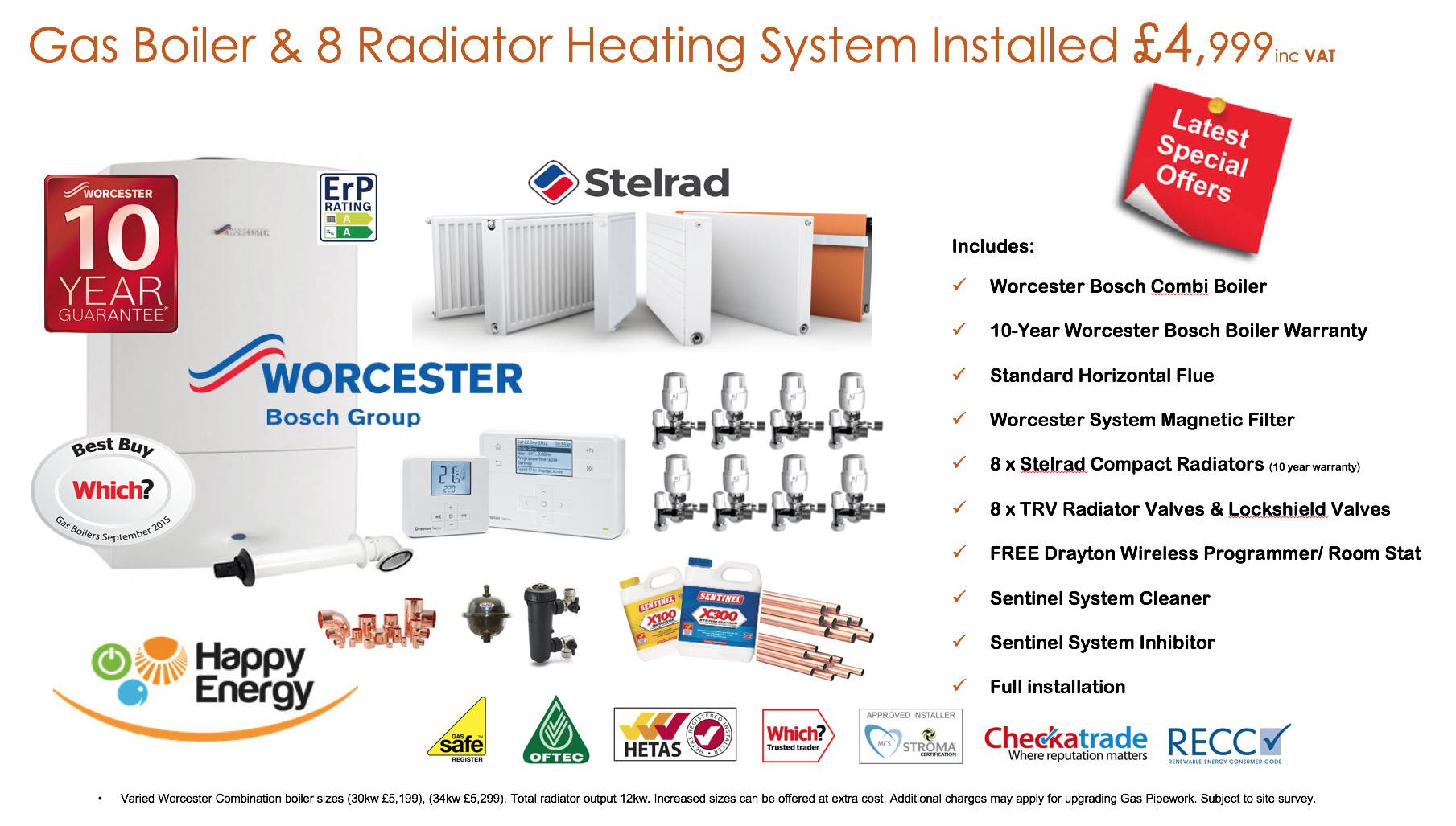 gas heating offer